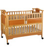 Mee Mee Baby Wooden Cot in Brown