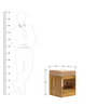 Mellila Shoe Rack with Drawer & Seat in Brown Colour by Tezerac