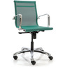 Mesh Fabric Mid Back Office Chair in Green Colour by FabChair