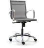 Mesh Fabric Mid Back Office Chair in Grey Colour by FabChair