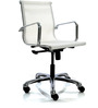 Mesh Fabric Mid Back Office Chair in White Colour by FabChair