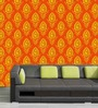 Me Sleep Orange PVC Abstract Print Wallpaper