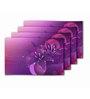 Me Sleep Purple PVC Floral Table Mat