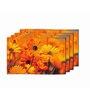 Me Sleep Yellow PVC Floral Table Mat