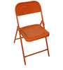 Metal Folding Chair in Red Colour by SmalShop