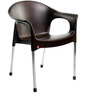 Metallo Cafeteria Chair Set of Two Chairs in Brown Colour by Cello
