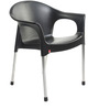 Metallo Cafeteria Chair Set of Two in Black Colour by Cello