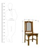 Granby Dining Chairs in Provincial Teak Finish by Amberville