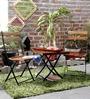 Mexico Folding Garden Set in Provincial Teak Finish by Woodsworth