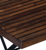 Mexico Outdoor Folding Garden Set with Armrests in Provincial Teak Finish by Woodsworth