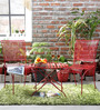 Lisheen Outdoor Garden Set in Red Color by Bohemiana