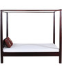 Savannah Queen Size Poster Bed In Passion Mahogany Finish by Woodsworth