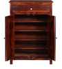 Milnes Shoe Rack in Honey Oak Finish by Amberville