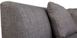 Mia Corner Sofa with Right Side Lounger in Grey Colour by Furny