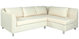Mia LHS Sectional Sofa with Lounger in Cream Colour by Furny