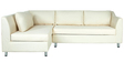 Mia RHS Sectional Sofa with Lounger in Cream Colour by Furny