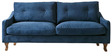 Mia Superb Three Seater Sofa in Blue Colour by Furny