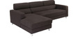 Mini Sectional Sofa with Right Side Lounger in Brown Colour by Furny