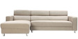 Mini Sectional Sofa with Right Side Lounger in Cream Colour by Furny
