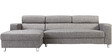 Mini Sectional Sofa with Right Side Lounger in Grey Colour by Furny