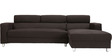 Mini Sofa with Left Side Lounger in Brown Colour by Furny