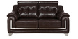 Miracle Two Seater Sofa in Dark Brown Leatherette by Sofab