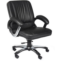 Mid Back Ergonomic Chair in Black Colour by Home City