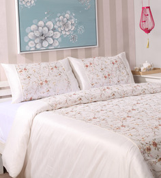 Milano Home Ivory Cotton Queen Size Duvet Covers Set Of 3