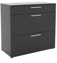Hikoru Chest of Three Drawers Made in Denmark in Gloss Black Finish by Mintwud