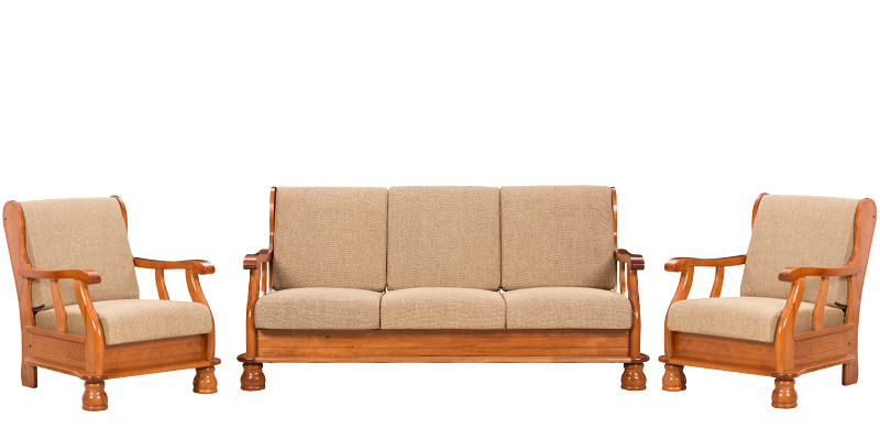 Oak Sofa Set ~ Buy vista sofa set with cushion seater by royal