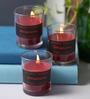 Micasa Red Strawberry Flavor Aroma Candles - Set of 3