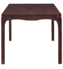 Midas Six Seater Dining Table in Warm Rich Finish by Inliving