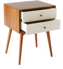 Midcentury Modern Nightstand with luxe beveled edges by AfyDecor