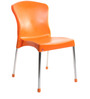 Milano Cafeteria Chair Set of Two in Orange Colour by Cello