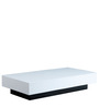 Milano Coffee Table Rectangular White by Forzza