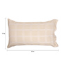 Milano Home Beige Cotton 19 x 30 Pillow Cover