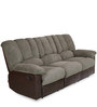 Miller Three Seater Recliner Sofa in Brown Colour by @ Home