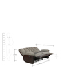 Miller Two Seater Recliner Sofa in Brown Colour by @ Home