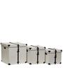 Genuine Leather Mini Organiser Trunk Set of Three in Ivory Color By Studio Ochre