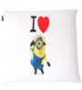 Minion Love Digital Printed Square Cushion Pillow by Orka