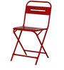 Marandoo Grunge Red Outdoor Folding Chair by Bohemiana