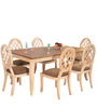 Miraya Six Seater Dining Set in Brown Glaze Colour by @home