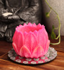 Candles N Beyond Pink Lotus Hurricane Candle
