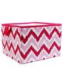 MixNMatch Pink Zigzag Storage Box Large