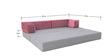 Veneti Three Seater Sofa cum Bed in Grey Colour by Furnitech