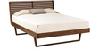 Modern King Panel Bed in Brown Color by Afydecor