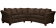 Modern Two Piece Sectional Sofa with Plush Cushioning in Brown Colour by AfyDecor