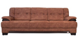 Molding Three Seater Sofa in Cappuccino Finish by Maruti Furniture