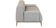 Molina Three Seater Sofa In Ash Grey Colour By CasaCraft