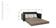 Moore Three Seater Sofa cum Bed in Grey Colour by Furnitech